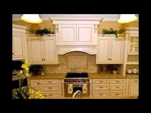 White Glazed Kitchen Cabinets - YouTube