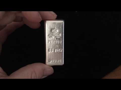 10oz Peru Co 999 Silver bar, by scottsdale silver, limited to 999