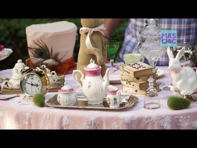 Ramiro Arzuaga Viste tu mesa por MAS CHIC TV: Mesa Alicia en el pais de las maravillas