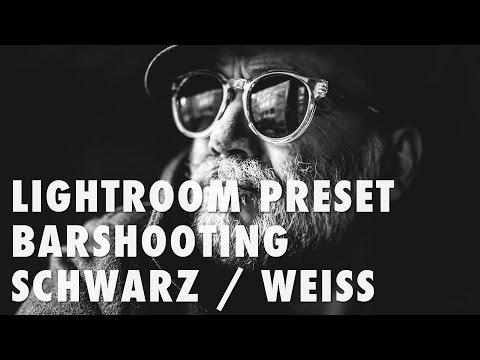 Lightroom Preset Barshooting Schwarz/Weiss High Contrast