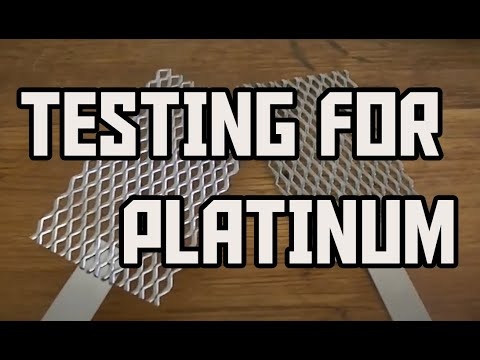 Testing for Fake Platinum Electrodes