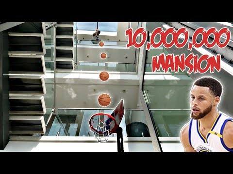 $10,000,000 MANSION BASKETBALL CHALLENGE!! (STEPH CURRY 3PT CONTEST)