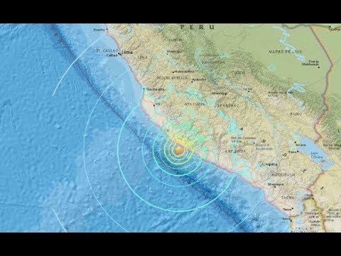 Earthquake, Peru, United States Geological Survey, Pacific Tsunami Warning Center