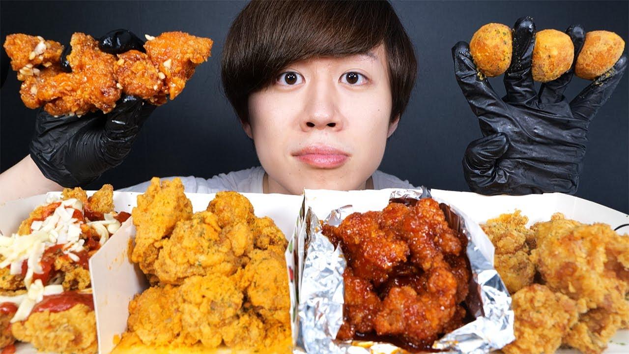 本物の韓国チキンをたくさん食べたらサイコォォ!【モッパン】