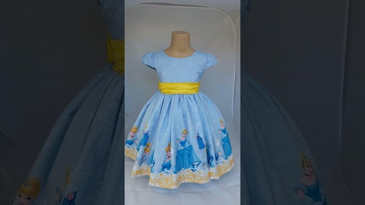 vestido cinderela infantil luxo youtube