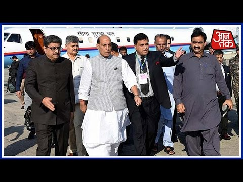 Rajnath Singh Reaches Pakistan For Saarc Meeting, Terrorist Hafiz Saeed Leads Protests