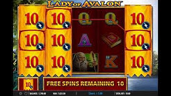 Lady of Avalon Slot Scatter Round Big Win Demo Gameplay
