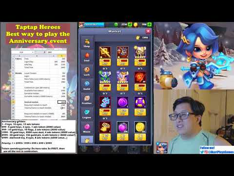 Taptap Heroes - Most efficient way to play the anniversary
