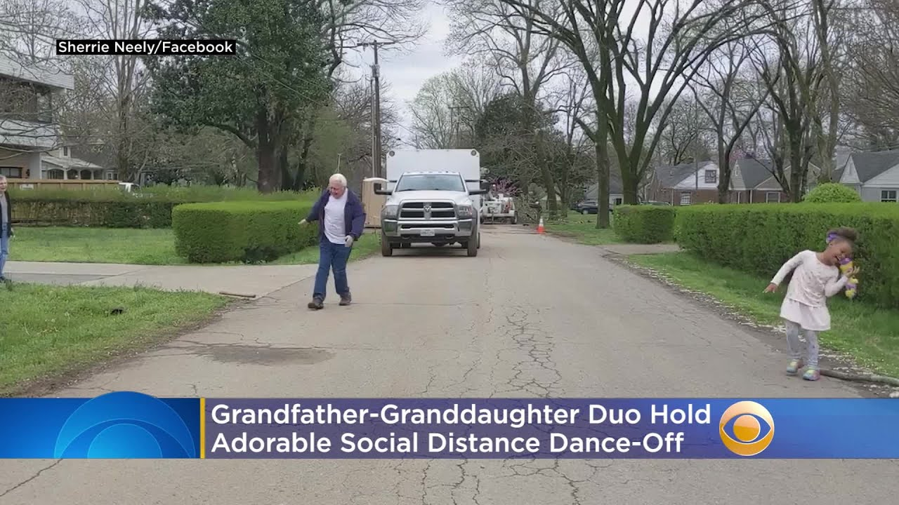 WATCH: Grandfather-Granddaughter Duo Hold Adorable Social Distance Dance-Off