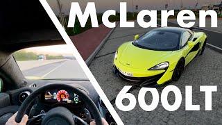 McLaren 600LT   336 km/h auf der Autobahn   POV   Matthias Malmedie