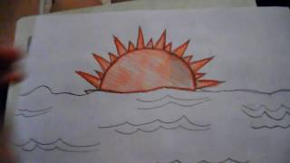 How To Draw A Sun Set (Medium Level)
