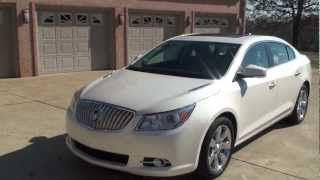 HD VIDEO 2011 BUICK LACROSS CXL WHITE DIAMOND USED FOR SALE SEE WWW SUNSETMILAN COM