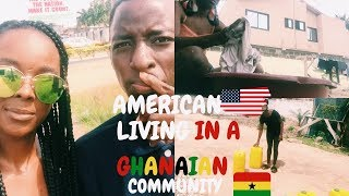 GHANA VLOG l Long distance meet first time l rural living,burning trash, hand washing clothes