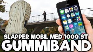 SLÄPPER MOBIL FRÅN BRO MED 1000 ST GUMMISNODDAR!