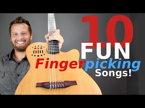 10 FUN Fingerpicking Songs on Guitar!