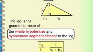 Geometry - Right Triangle Similarity, Geometric Mean