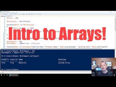 PowerShell Arrays Introduction