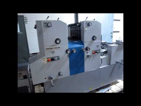 Ryobi 3302h 2 color printing press youtube ryobi 3302h 2 color printing press publicscrutiny Choice Image