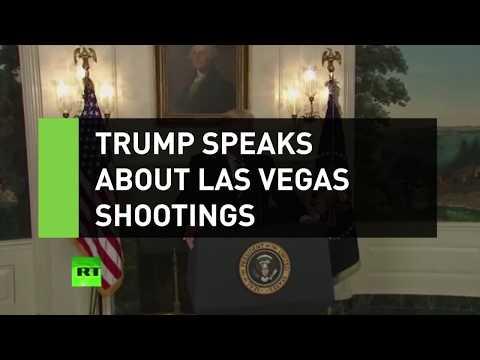 "Trump calls Las Vegas shooting ""act of pure evil"""