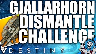 Destiny: GJALLARHORN PvP Dismantle Challenge / Inverted NLB (Exotic Wager Ep2)