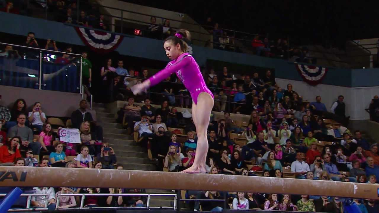 Katelyn Ohashi Balance Beam 2013 At Amp T American Cup