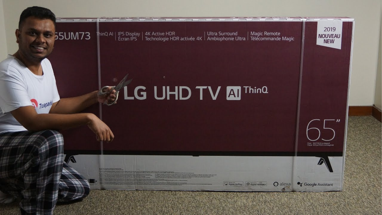 Unboxing Lg 65 Inch Class 4k Smart Uhd Tv With Ai Thinq