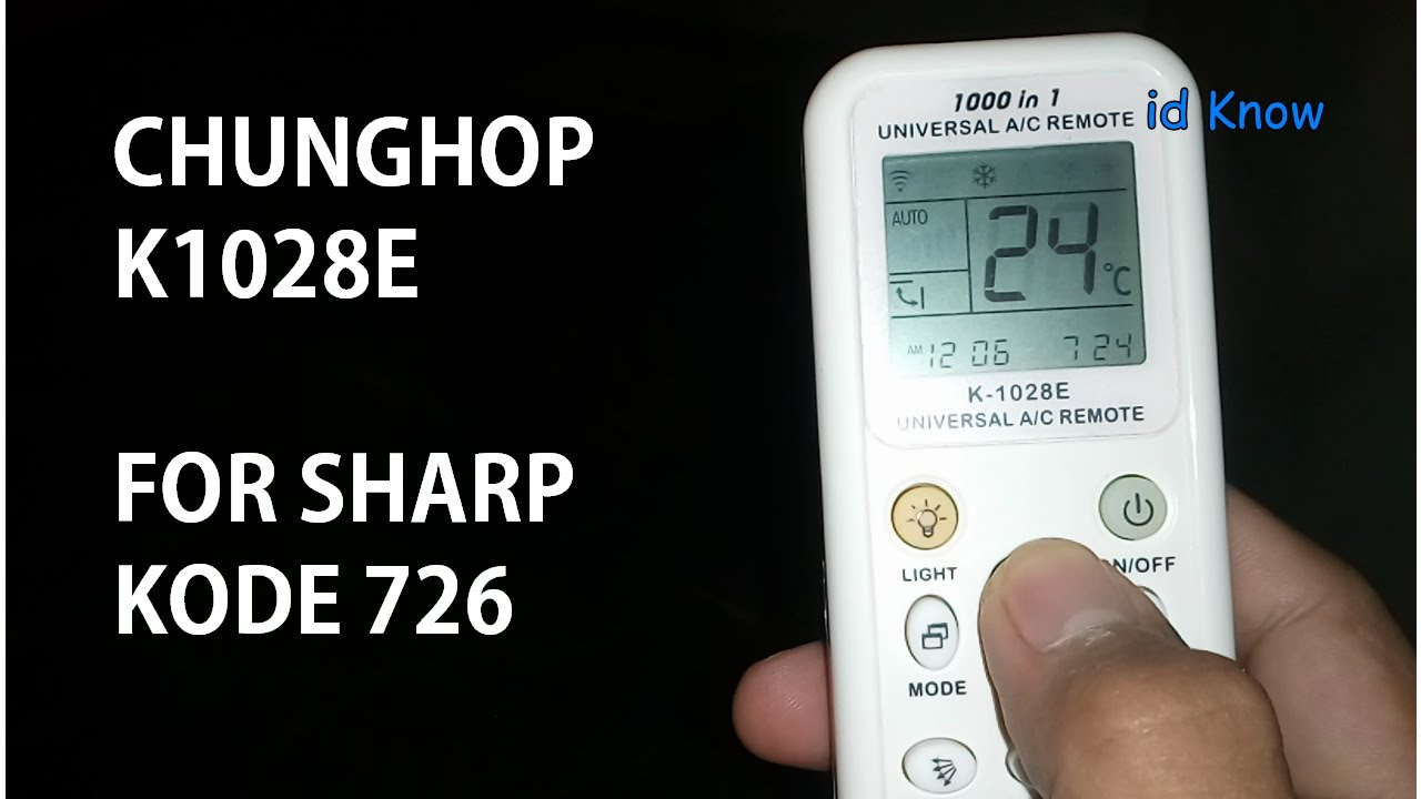 Cara Setting Remote Ac Universal Chunghop Untuk Sharp Ion