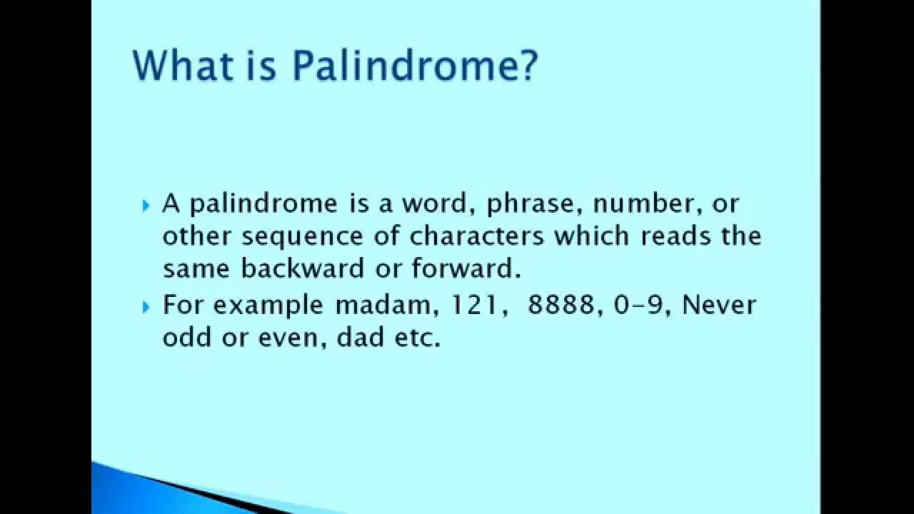 C++ Program to Check Whether Given String is a Palindrome