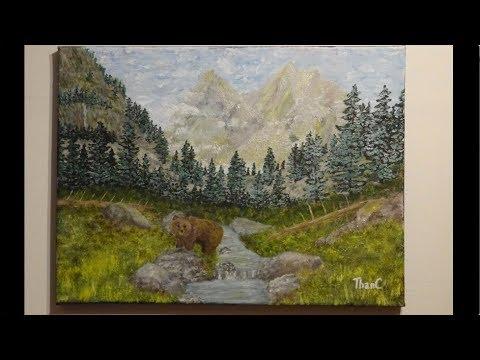 Rocky Mountain scene – acrylic painting