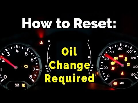 How To Reset The Oil Change Light On Your Jeep Renegade Cherokee