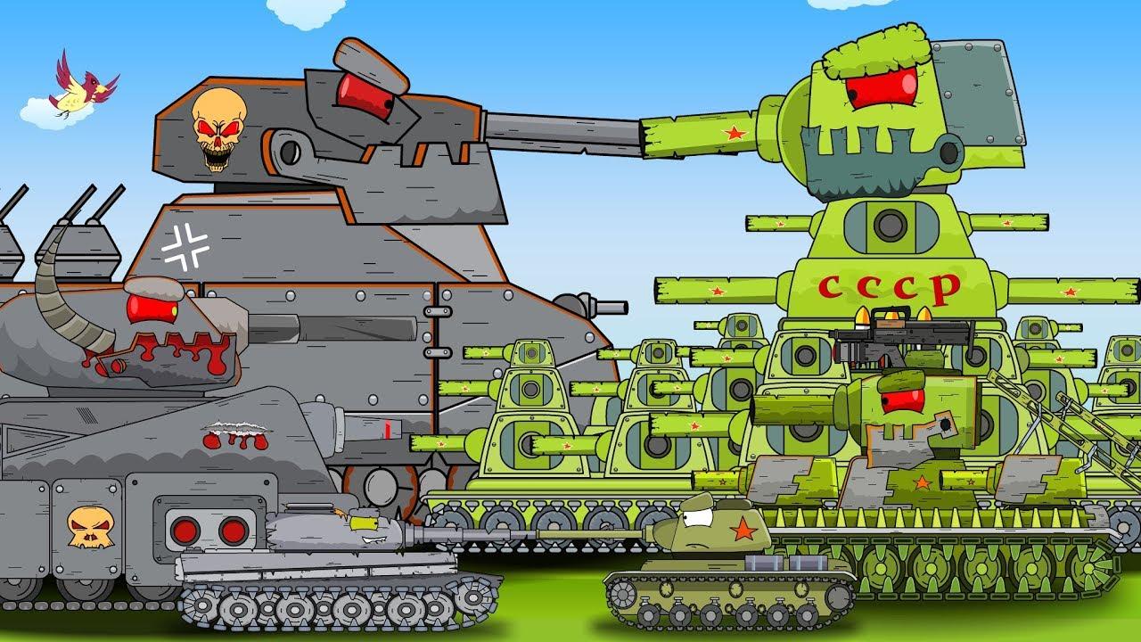 топ 5 серий перерождений монстров - Мультики про танки ...