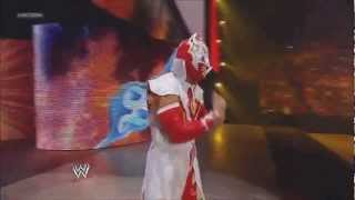 WWE Smackdown 06 01 2012 Sin Cara Returns (Red Attire & New Pyro Entrance)