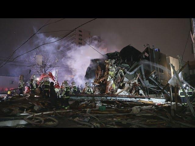 札幌で爆発、42人けが 居酒屋倒壊、ガス引火か