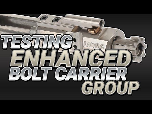 Testing Enhanced Bolt Carrier Group w/ Suppressed Machine Gun