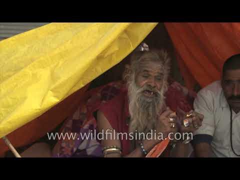 Naga Sadhu makes tea