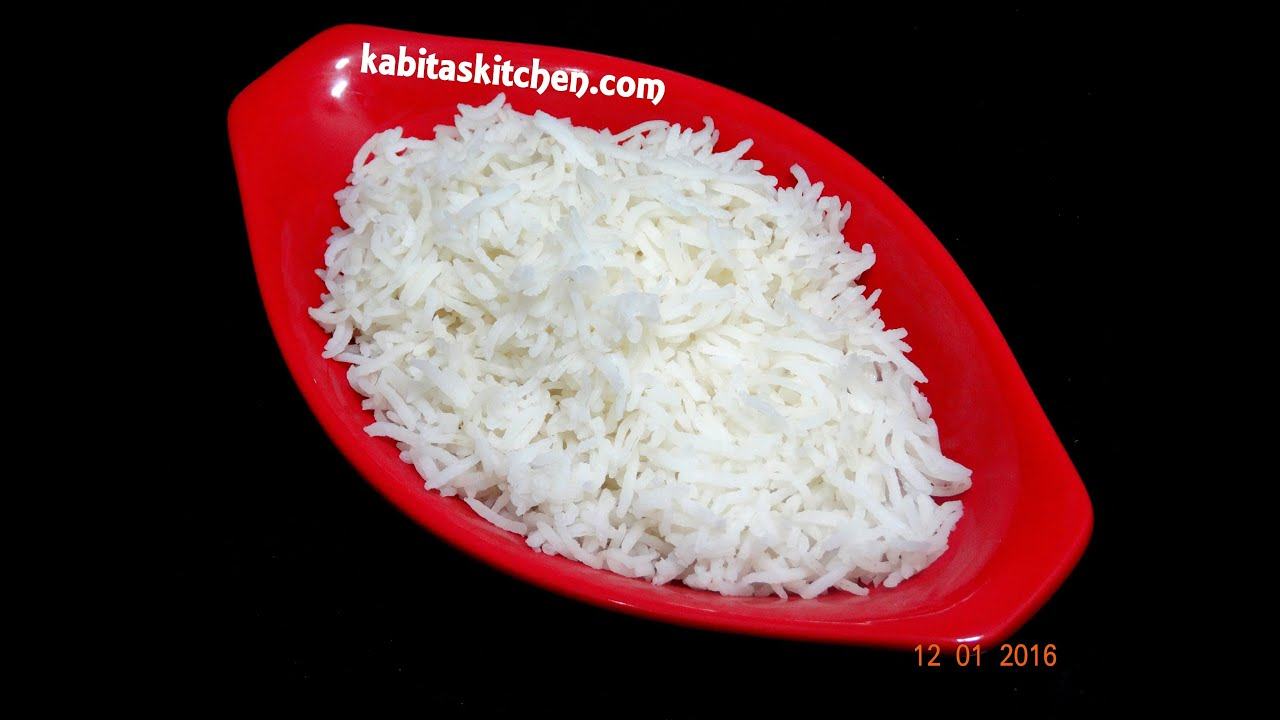 How To Make Perfect Rice In Panhow To Cook Rice Without Pressure  Cookereasy And Quick Plain Rice