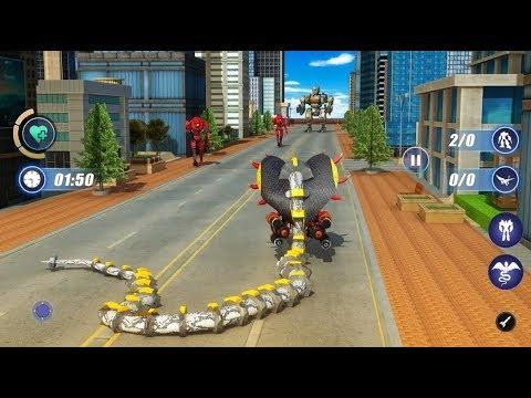 Snake Transform Robot War Game 2020 - Android Gameplay (Full HDR)