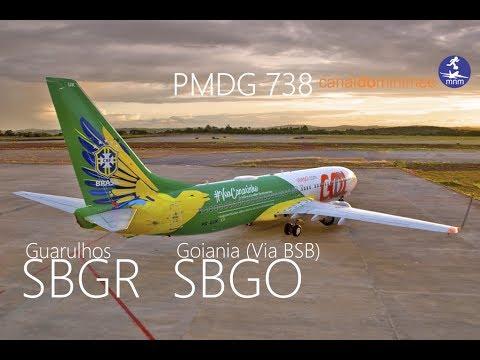 Flight Simulator FSX Boeing 737 Gol Sao Paulo Brasilia Goiania