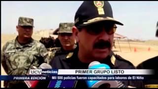 Trujillo: Mil 500 policías capacitados para labores de El Niño