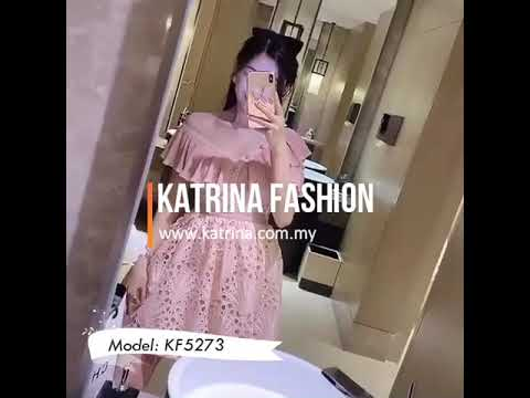 OPEN SHOULDER EYELET DRESS KF5273