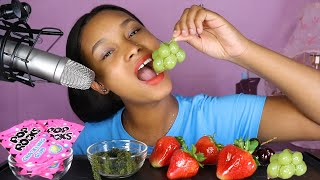 MOST POPULAR FOOD FOR ASMR Part 5 *POP ROCKS, SEAGRAPES, TANGHULU *NO TALKING 먹방 먹방 | QUEEN BEAST