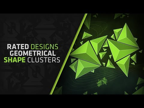 How To Make Geometrical Shape Clusters In Photoshop By Rated Designs