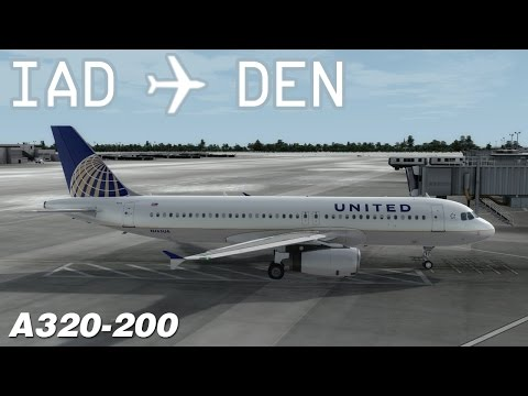 [P3D v3] Washington-Dulles to Denver | UAL735 | United Airlines | Aerosoft Airbus A320 | IVAO