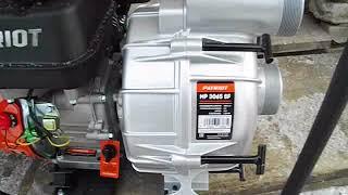 обзор Грязевой Мотопомпы Patriot  MP3065SF для бурения скважин