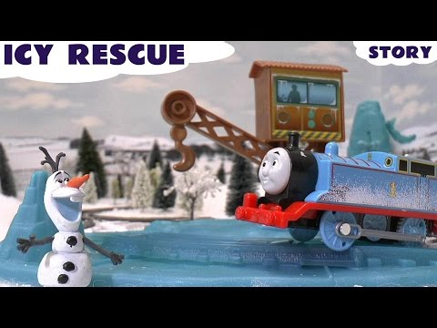 Frozen Thomas & Friends Play Doh Queen Elsa Olaf Story Snow White Mountain Rescue Kids Toy Play Set