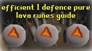 Efficient 1 Defence Pure Lava Runes Guide [60+k XP/HR] | OldSchool 2007 RuneScape