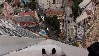 Illegal Highball Hotel BASE Jump | Jokke Sommer