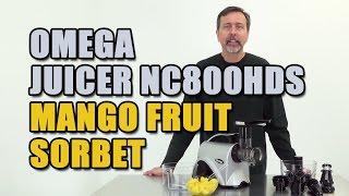 Omega Juicer Nc800hds Mango Fruit Sorbet