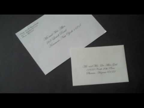 Print Your Wedding Invitation Envelopes In A Script At Weddingguestconnection Com