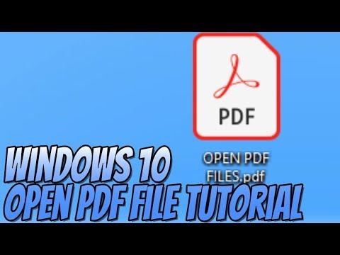 How To Open PDF Files In Windows 10 Tutorial | Install Adobe Acrobat Reader DC thumbnail
